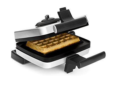 Croquade U11000 Traditional Belgian Waffle Maker, Silver
