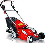 Grizzly Elektro Rasenmäher ERM 1641 GT mit Stahlgehäuse 1600 W Turbo Power Motor 41 cm Schnittbreite Mulchfunktion