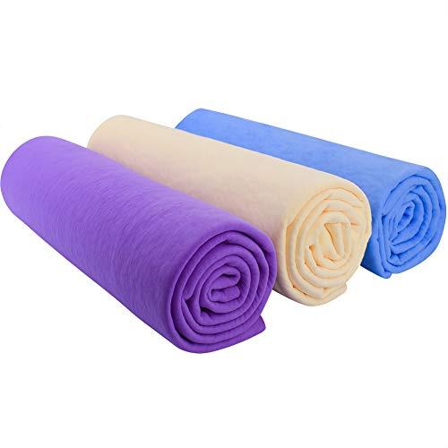Paño de gamuza para coche – paño de limpieza de gamuza toalla de secado para coche Syntheti toalla súper absorbente (61 x 40,6 cm) – paquete de 3