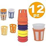TrAdE Shop Traesio 12 PZ SOTTOBICCHIERI REGGIBICCHIERI in PLASTICA Reggi sotto Bicchieri Bicchiere