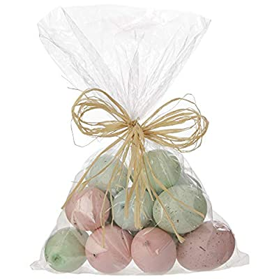 Raz Speckled 2.5 Inch Easter Eggs in Green, Pink and Blue
