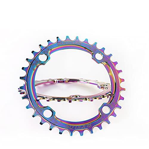 MENGGOO Bike Bainring 104BCD MTB CIRANKST ALUGO Aluminio CHAINTHING CHAINWHLEEL 30-38T Oval Ronda DE CIERNAJE Conjunto DE LA Bicicleta DE LA Bicicleta (Color : Oval 38T)