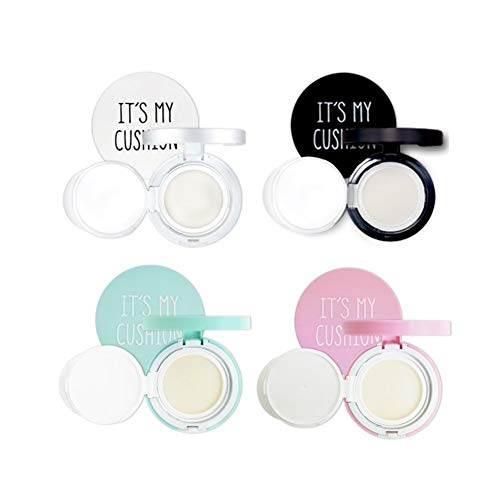 Empty BB Cushion Compact Case - Its My Cushion 4 Items Mint Pink White Black - DIY Foundation Makeup Sun Cream Air Container with Sponge, Internal case, Make Your own Cosmetic case