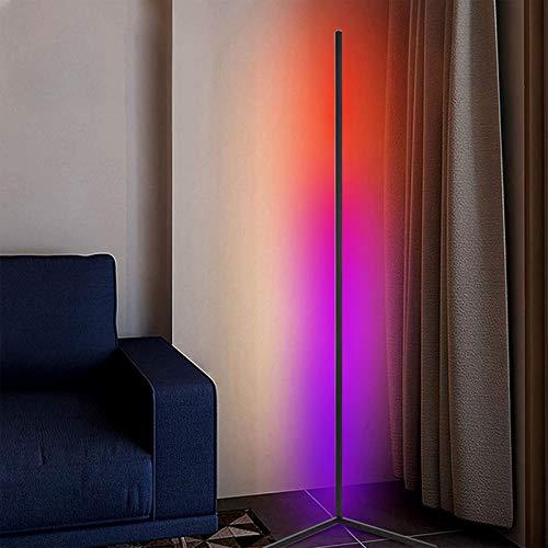 JAKROO RGB-Stehlampe, Moderne LED-Stehlampe, Minimalismus Farbwechsel LED Dimmbare Stehlampe, für Wohnzimmer, Schlafzimmer und Spielzimmer