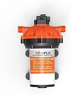 SEAFLO 12V DC 5.5 GPM 60 PSI 51-Series Diaphragm Water Pressure Pump for Marine Boat RV Caravan