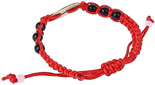 ZKZKK Pulsera de la Riqueza Feng Shui Feng Shui Riqueza Afortunado Cobre Cobre Colgante Cuerda roja Pulseras joyería Puede traer Suerte y Prosperidad