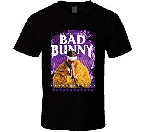 Bad Bunny Spanish Trap Regueton Reggaeton Black T Shirt