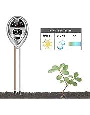MEISHANG 3-in-1 tester voor vochtigheid van de bodem, bodemvochtigheidsmeter, bodemtester, pH-tester, zonlichttester, bodemvochtigheid