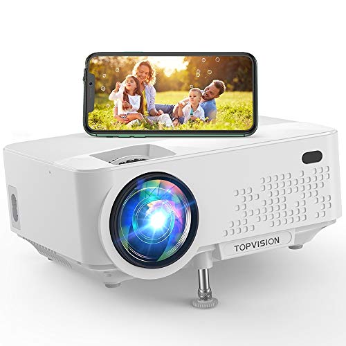 "Wi-Fi Projector, TOPVISION 5500L Mini Projector with Synchronize Smart Phone Screen, Full HD 1080P Projector and 240"" Display Supported, Compatible with TV Stick, PS4, HDMI, VGA, TF, AV, USB"