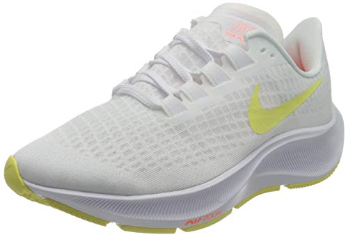 Nike Wmns Air Zoom Pegasus 37, Zapatillas para Correr Mujer, White Lt Zitron BRT Mango, 38 EU