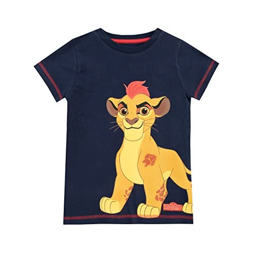 Disney Maglietta a Maniche Corta per Ragazzi Le Lion Guard Blu 18-24 Mesi