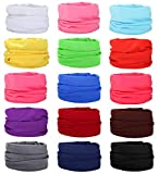 Besteel 15Pcs Seamless Scarf Bandanas Headwrap Face Scarves Headwear UV Protection Neck Gaiters for Outdoor Sports