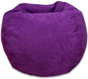 Bean Bag Chair Large Microsuede (Purple)