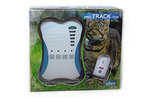 Girafus Localizzatore RF per Gatto e Cane - Pet Tracker Mini per Animali Domestici 2Tag (per localizzare Due Animali) + Caricabatterie Incluso