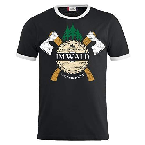 Männer und Herren T-Shirt Holz Ich Bin dann mal im Wald Größe S - 8XL