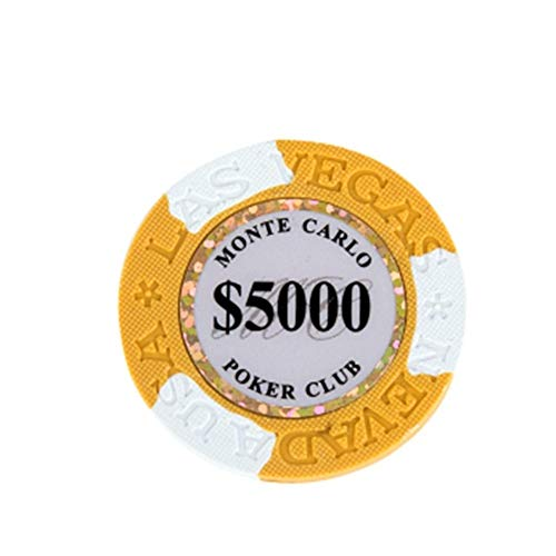Pokerchips Monte Carlo Design Top Qualität Clay Jetons verschiedene Werte