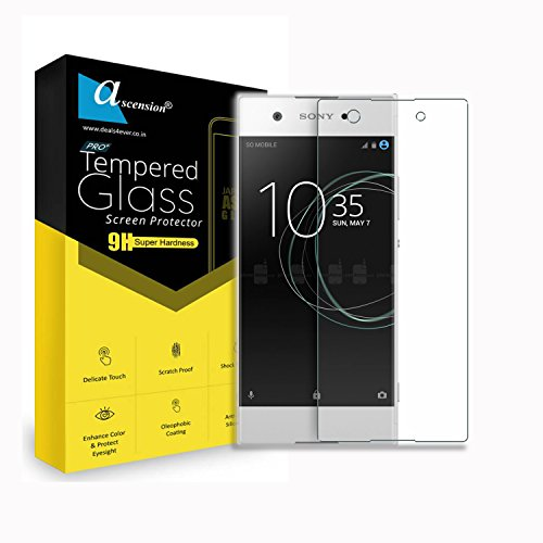 Ascension ® Curve Tempered for Sony Xperia XA1 Dual Gorilla Glass Screen Protector High 9H Hard 2.5D Ultra Clear Transparent (Set of 2)