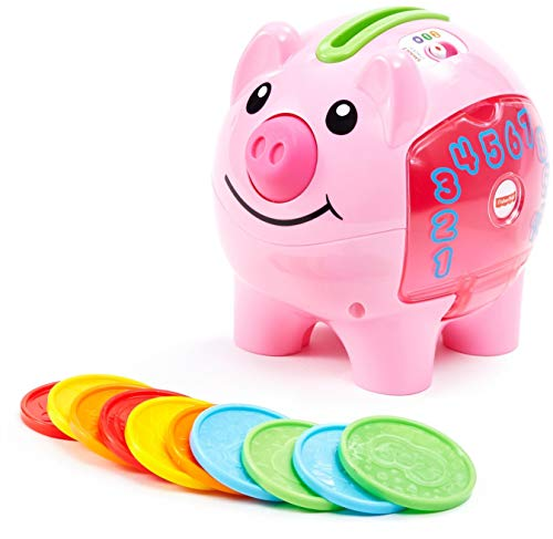 Fisher-Price Laugh & Learn Smart Stages Piggy Bank Pink, Small