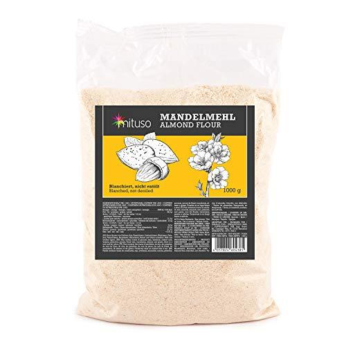 Mituso Farina di Mandorle Mituso, Naturale, Sbiancata, Qualità Premium, 1000 G - 1010 g