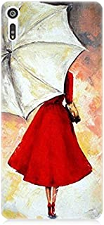 Sony Xperia Xz Kırmızılı Kadın Desenli Silikon Kılıf