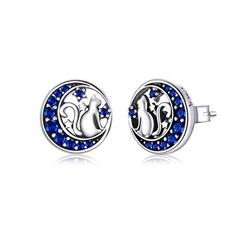 yunyu Snowflake Earrings,Lovely Animal Stud Earrings Sterling Silver - Women Girls Cute Koala Earrings Butterfly Studs Sloth Earrings Cat Jewellery Gift