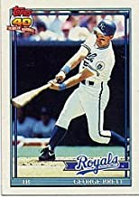 1991 Topps George Brett Baseball Card #540 - Shipped In Protective Display Case!