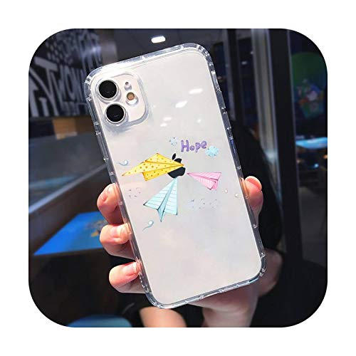Funda para teléfono móvil con diseño de avión transparente suave para iPhone 5, 5s, 5c, se 6, 6s, 7, 8, 11, 12 Plus, mini x xs xr pro max-a7-para iPhone 6, 6s plus