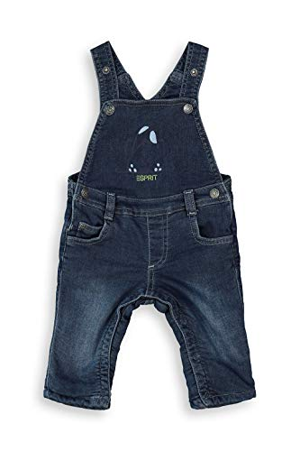 ESPRIT Baby-Jungen Latzhose Hose, Blue medium wash Blue, 56