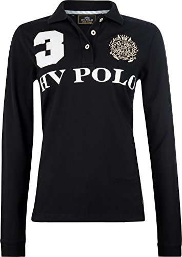 HV Polo - Polo Shirt Favouritas Eques LS - Poloshirt - Schwarz - S
