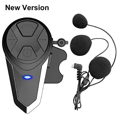 QSPORTPEAK BT-S3 Motorradhelm Kommunikation Headset Bluetooth Intercom-Lautsprecher für Motorradfahren Skifahren 2-3 Fahrer GPS FM Radio Full Duplex-Freisprecheinrichtung BT 1000M