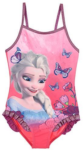 Disney Frozen Mädchen Badeanzug , Dunkelrosa, 8 Jahre