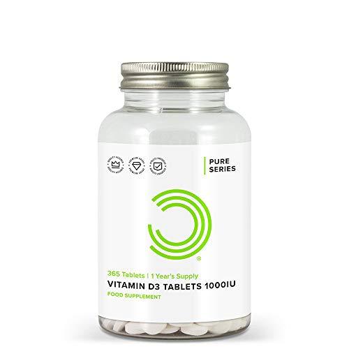 BULK POWDERS Vitamin D3 Tablets, 1000 IU, 1 Year Supply, Pack of 365