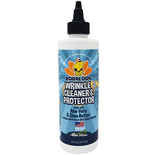 Bodhi Dog Wrinkle Cleaner and Protector | Extra Large 8oz | Soother & Treatment to Clean & Protect Wrinkles & Skin | Stain Remover & Anti Itch | Perfect for Bulldogs & Pugs | Made in The USA