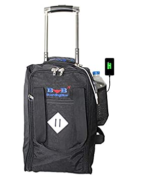 17  Rolling Personal Item Under Seat Luggage for United Airlines + UBS Port  Black