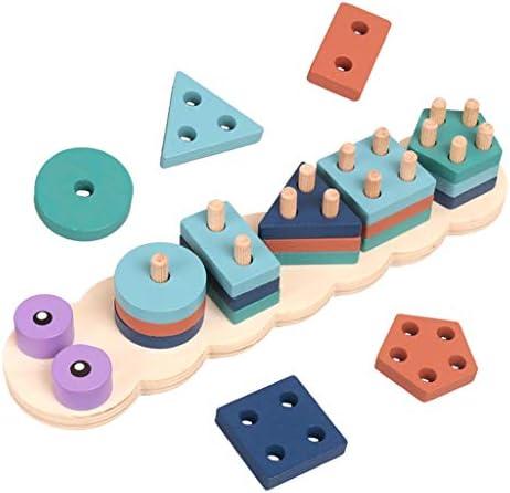Perfeclan Montessori Educatief Speelgoed Vorm Sorteerder Speelgoed Geometrische Blokken Stapelen Bijpassende Spel voor Kinderen Vroege Ontwikkeling