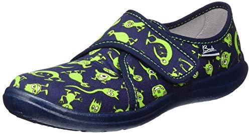 Beck Monster, Zapatillas de Estar por casa para Niños, Azul (Dunkelblau 05), 34 EU