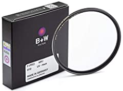 PROTECT YOUR EXPENSIVE CAMERA LENSES - The B + W43 mm UV haze clear camera filter is here to add 16 multi-resistant layers of protection against accidental drops, dust, flying, fingerprints, dirt, scratches sand or seawater spray. Enjoy outdoor photo...