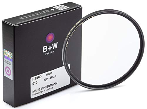 B + W 55mm UV Protection Filter (010) for Camera Lens – Standard Mount (F-PRO), MRC, 16 Layers Multi-Resistant Coating, Photography Filter, 55 mm, Clear Protector
