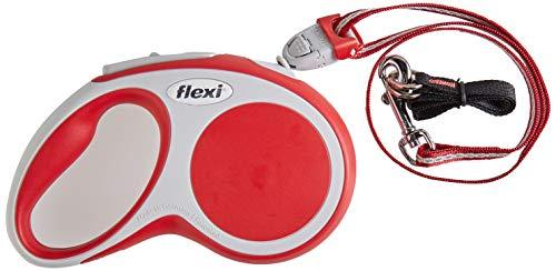 Flexi Vario Laisse avec Cordon pour Chien Rouge 5 m Taille S