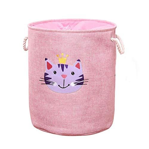 XYZMDJ Almacenamiento de los compartimientos, el vivero Cesto lienzo de lavandería cesta cestas grandes de almacenamiento for muchachos de los niños y niñas Oficina Dormitorio Juguetes de almacenamien