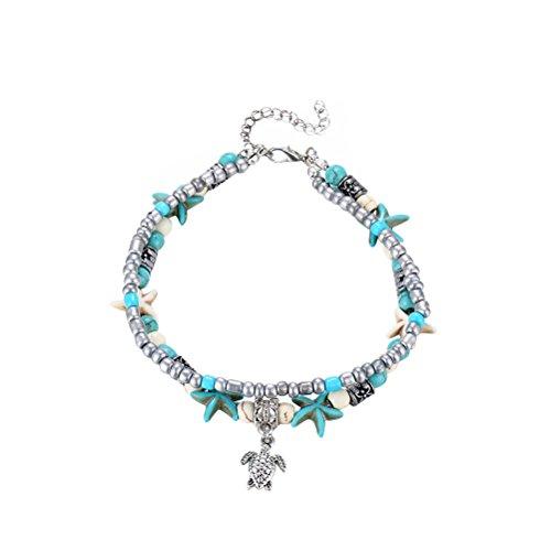 OULII Anklet Bracelet Sea Star Foot Jewelry for Women Girls