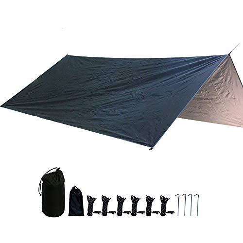 JTRHD Refugio De Tienda De Lona Hamaca Lluvia Mosca Carpa Lona Impermeable de Lona Marquesina Colchoneta de Picnic Lona Camping Viajes Al Aire Libre (Color : Black, Size : 300x300cm)