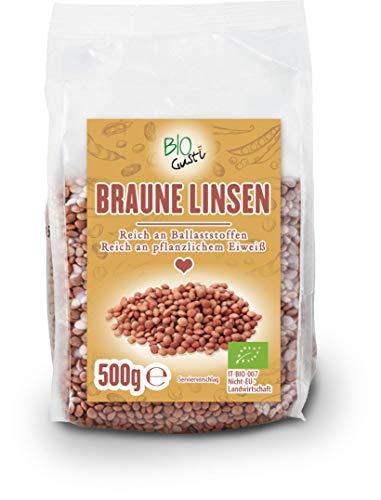 Biogustí Bio braune Linsen, 500 g