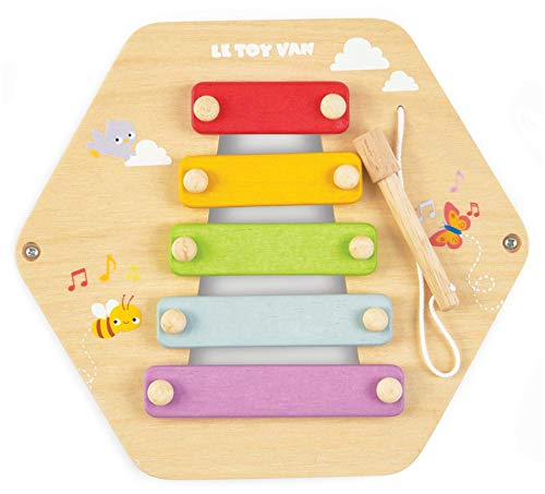 Le Toy Van – Piastrella educativa in Legno di Petilou Xilofono Musicale | Baby Sensory Montessori Toddler Learning Toy – Adatto per Bambini dai 18 Mesi in su.
