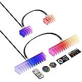 EZDIY-FAB RGB Kabelkamm - 2 x 24-polige und 6 x 8-polige RGB LED Kämme für Kabel Management mit RF Fernbedienung