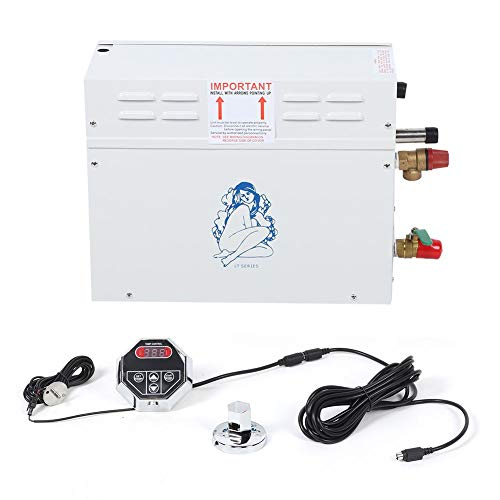 Jacksking Sauna Steamer, 6KW Generador de Vapor eléctrico Sauna TC-135 Controlador de visualización de Temperatura Digital(#2)