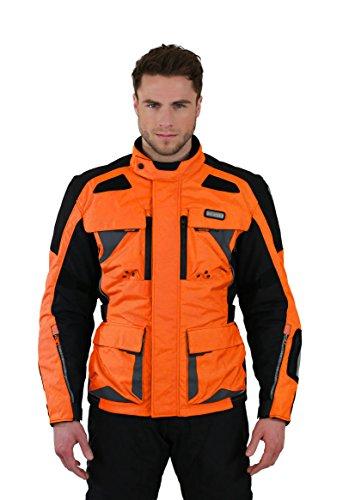 Nerve Tengri Motorrad Tourenjacke, Orange, XXL
