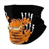 Multifunctional Headwear Crawling Garfield Face Mouth Cover, Head Wrap, Neck Gaiter, Headband Bandana, Magic Scarf, Balaclava for Outdoor Black