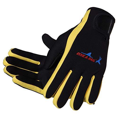 Lovache, Neopren Handschuhe, 1,5mm, ideal zum Schwimmen, Surfen, Tauchen, Segeln , damen, gelb, S
