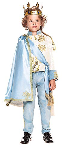 VENEZIANO Costume Carnevale da Principe del Regno INCANTATO Baby Vestito per Bambino Ragazzo 1-6 Anni Travestimento Halloween Cosplay Festa Party 28060 5 Anni